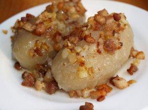 Tarkuotų bulvių cepelinai su mėsa