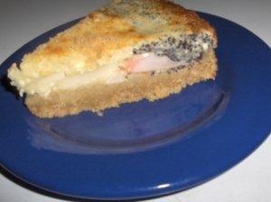 Varškinis-obuolinis pyragas su aguonomis