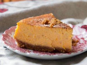 Sūrio pyragas su maskarpone ir moliūgais