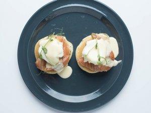 Benedikto kiaušiniai su lašiša