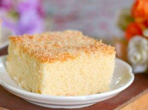 Drėgnas kokosų pyragas