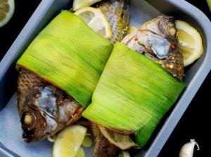 Orkaitėje kepta tilapija žuvis