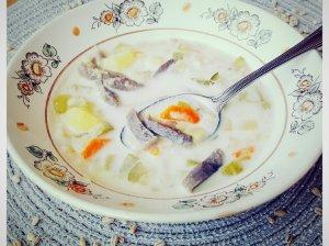Raugintų agurkų sriuba su skrandukais