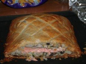 Sluoksniuotas žuvies pyragas