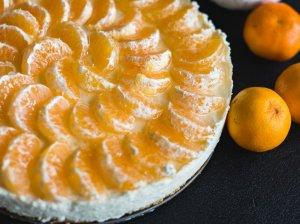 Gaivus nekeptas varškės tortas su mandarinais