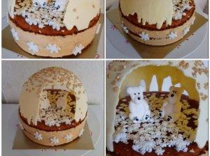 Aguonų tortas su plikytu kremu