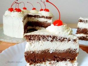 Šokoladinis kavos tortas su maskarponės sūrio kremu