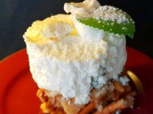 Maskarponės kremo ir sūrio su melsvuoju palėsiu pyragaičiai