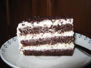 Kakavinis šokoladinis tortas su varške