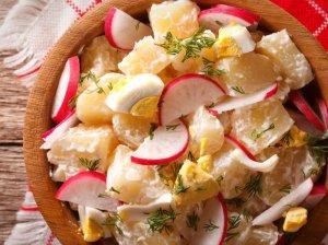 Bulvių salotos su ridikėliais