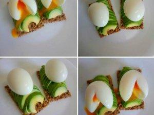 Sumuštiniai su skystai virtu kiaušiniu