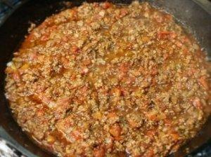 Pikantiškas maltos mėsos katilėlis