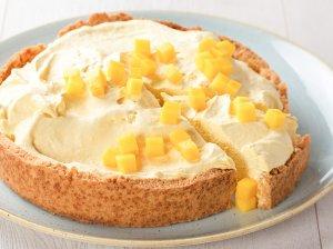 Mangų maskarponės pyragas