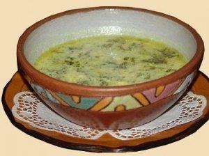 Rūgštynių sriuba su skrebučiais