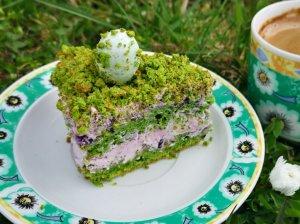 Špinatų tortas žalioji mėlyne su maskarpone