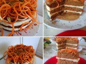 Morkų tortas su maskarponės kremu