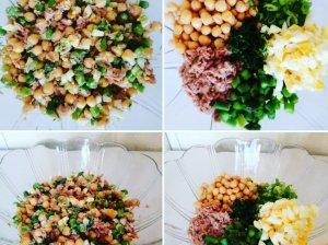 Avinžirnių salotos su smidrais ir tunu
