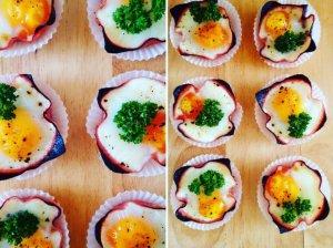 Kumpio keksiukai su kiaušiniais ir ikrais