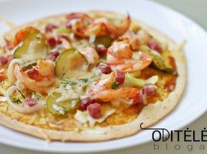 """Tortilijų """"picos"""" su krevetėmis orkaitėje"""