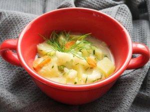 Pieniška cukinijų ir žiedinių kopūstų sriuba