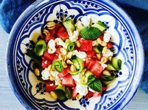 Gaivios salotos su arbūzu