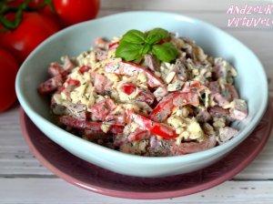 Kalafiorų salotos su rūkyta mėsyte