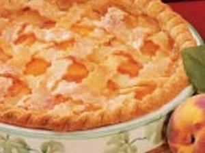 Mielinis pyragas su varške ir persikais