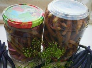 Marinuotos šparaginės pupelės žiemai