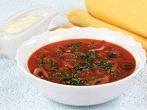 Pievagrybių ir pomidorų sriuba