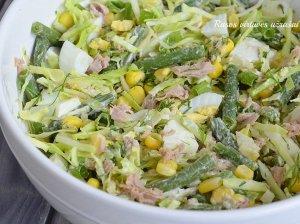 Kopūstų salotos su tunu be majoneze