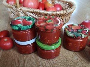 Ingridos pomidorų padažas žiemai