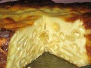 Makaronų apkepas su sūriu