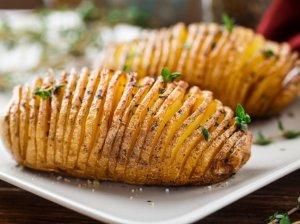 Bulvių armonikėlės orkaitėje