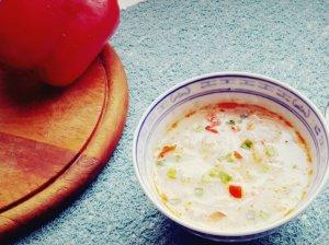 Krevečių sriuba su kokosų pienu