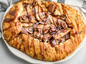 Obuolių pyragas galetė su karamele