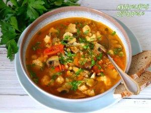 Kalafiorų sriuba su lęšiais