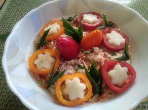 Grikių salotos su morkomis