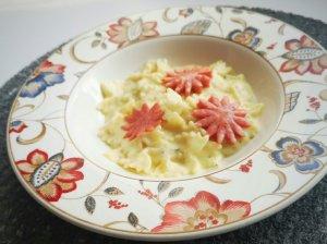 Makaronai su kreminiu padažu ir mėsyte