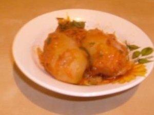 Bulvės, įdarytos daržovėmis