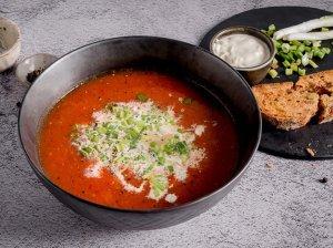 Keptų daržovių sriuba su sūriu
