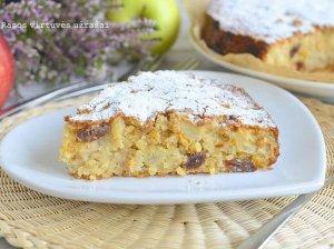 Kvapnus obuolių pyragas su avižiniais dribsniais