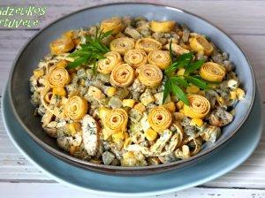 Šventinė vištienos mišrainė (be majonezo)