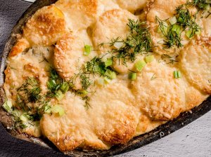 Bulvių apkepas su silke