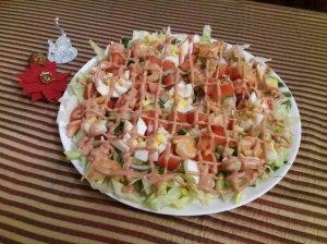 Karališkos krevečių salotos