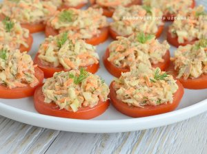 Pomidorų užkandėlė su tunu ir morkomis