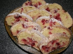 kalėdų vaišės: Spanguolių pyragas