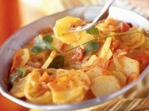 Troškintos morkos su bulvėmis