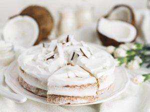 Purus kokosinis pyragas be kvietinių miltų