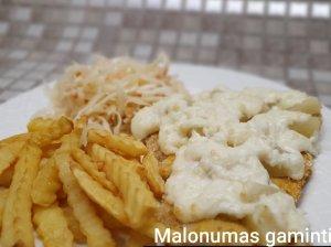 Vištienos kepsniai su sūriu ir ananasais