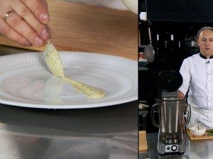 Grietinės ir žalumynų padažas salotoms